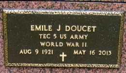 DOUCET, EMILE J (VETERAN WWII) - Iberia County, Louisiana   EMILE J (VETERAN WWII) DOUCET - Louisiana Gravestone Photos