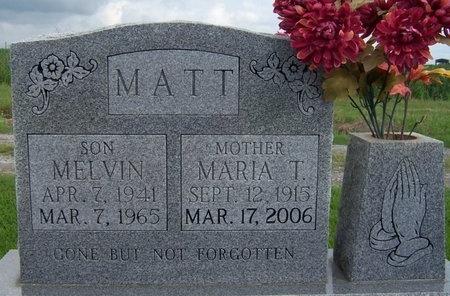 TRAHAN MATT, MARIA - Iberia County, Louisiana | MARIA TRAHAN MATT - Louisiana Gravestone Photos