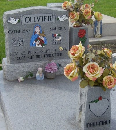 OLIVIER, CATHERINE MAUDRIA - Iberia County, Louisiana | CATHERINE MAUDRIA OLIVIER - Louisiana Gravestone Photos