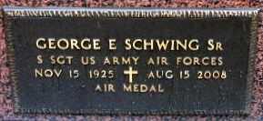 SCHWING, GEORGE E, SR (VETERAN WWII) - Iberia County, Louisiana | GEORGE E, SR (VETERAN WWII) SCHWING - Louisiana Gravestone Photos