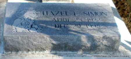 SIMON, HAZEL I - Iberia County, Louisiana | HAZEL I SIMON - Louisiana Gravestone Photos