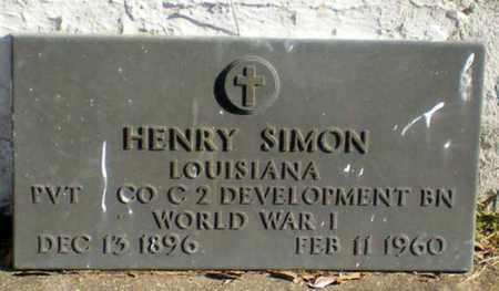 SIMON, HENRY  (VETERAN WWI) - Iberia County, Louisiana | HENRY  (VETERAN WWI) SIMON - Louisiana Gravestone Photos