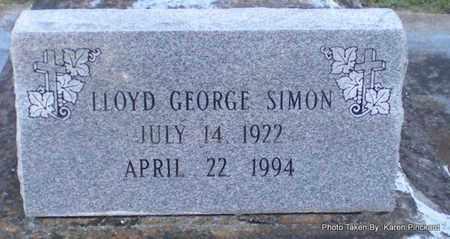 SIMON, LLOYD GEORGE - Iberia County, Louisiana   LLOYD GEORGE SIMON - Louisiana Gravestone Photos