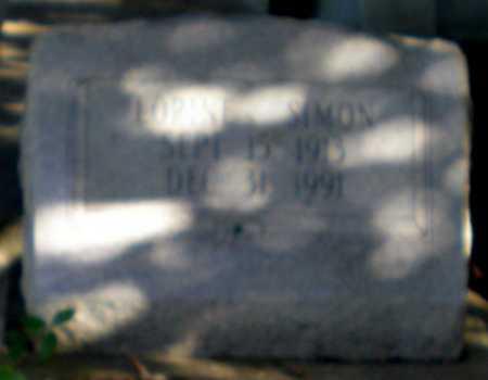 SIMON, LORINE - Iberia County, Louisiana   LORINE SIMON - Louisiana Gravestone Photos