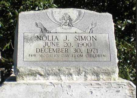 SIMON, NOLIA J - Iberia County, Louisiana   NOLIA J SIMON - Louisiana Gravestone Photos