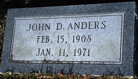 ANDERS, JOHN D - Jackson County, Louisiana | JOHN D ANDERS - Louisiana Gravestone Photos