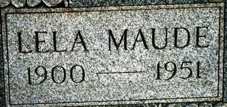 WILLIAMS, LELA MAUDE (CLOSEUP) - Jackson County, Louisiana   LELA MAUDE (CLOSEUP) WILLIAMS - Louisiana Gravestone Photos