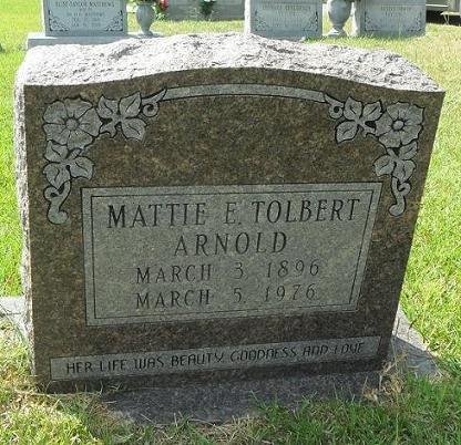 TOLBERT ARNOLD, MATTIE E - La Salle County, Louisiana | MATTIE E TOLBERT ARNOLD - Louisiana Gravestone Photos
