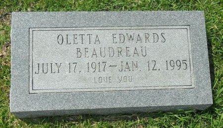 EDWARDS BEAUDREAU, OLETTA - La Salle County, Louisiana | OLETTA EDWARDS BEAUDREAU - Louisiana Gravestone Photos