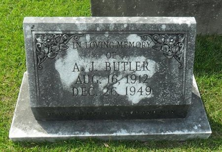 BUTLER, A J - La Salle County, Louisiana | A J BUTLER - Louisiana Gravestone Photos