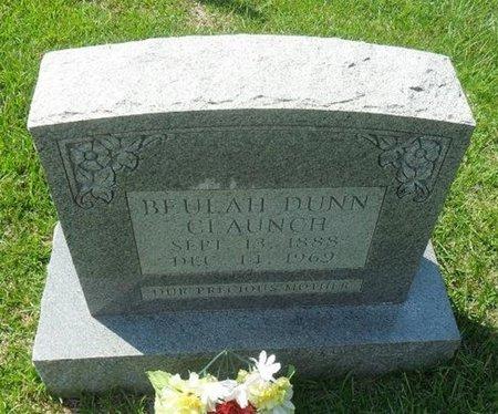 DUNN CLAUNCH, BEULAH - La Salle County, Louisiana | BEULAH DUNN CLAUNCH - Louisiana Gravestone Photos