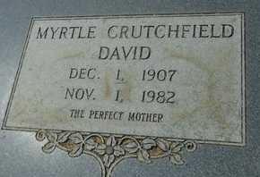 DAVID, MYRTLE - La Salle County, Louisiana | MYRTLE DAVID - Louisiana Gravestone Photos