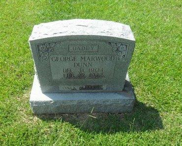 DUNN, GEORGE MARWOOD - La Salle County, Louisiana | GEORGE MARWOOD DUNN - Louisiana Gravestone Photos