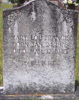 FRANCIS, MARY LOU - La Salle County, Louisiana | MARY LOU FRANCIS - Louisiana Gravestone Photos