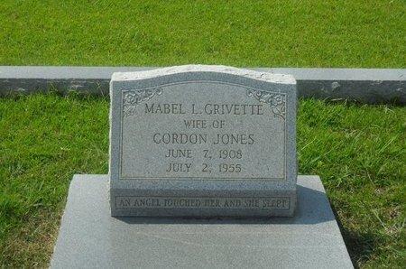 GRIVETTE JONES, MABEL ESTER - La Salle County, Louisiana | MABEL ESTER GRIVETTE JONES - Louisiana Gravestone Photos
