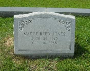 REED JONES, MADGE ELIZABETH - La Salle County, Louisiana   MADGE ELIZABETH REED JONES - Louisiana Gravestone Photos