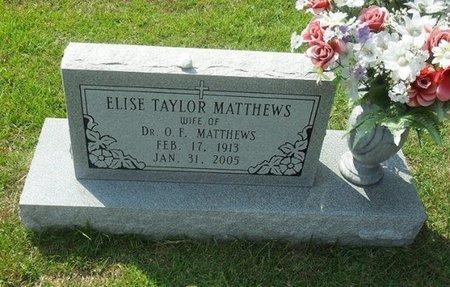 TAYLOR MATTHEWS, ELISE - La Salle County, Louisiana | ELISE TAYLOR MATTHEWS - Louisiana Gravestone Photos