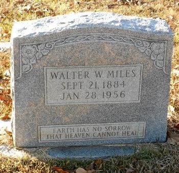 MILES, WALTER W - La Salle County, Louisiana | WALTER W MILES - Louisiana Gravestone Photos