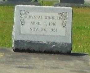 WINKLER, CRYSTAL - La Salle County, Louisiana | CRYSTAL WINKLER - Louisiana Gravestone Photos