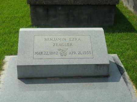 ZEAGLER, BENJAMIN EZRA - La Salle County, Louisiana   BENJAMIN EZRA ZEAGLER - Louisiana Gravestone Photos