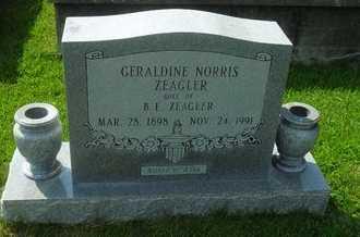 NORRIS ZEAGLER, GERALDINE - La Salle County, Louisiana | GERALDINE NORRIS ZEAGLER - Louisiana Gravestone Photos