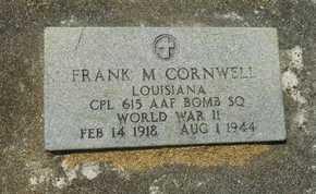 CORNWELL, FRANK M  (VETERAN WWII, KIA) - La Salle County, Louisiana | FRANK M  (VETERAN WWII, KIA) CORNWELL - Louisiana Gravestone Photos