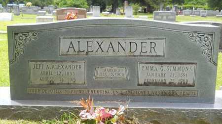 ALEXANDER, EMMA G - Lincoln County, Louisiana | EMMA G ALEXANDER - Louisiana Gravestone Photos