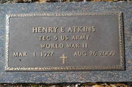 ATKINS, HENRY E (VETERAN WWII) - Lincoln County, Louisiana | HENRY E (VETERAN WWII) ATKINS - Louisiana Gravestone Photos