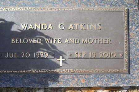 ATKINS, WANDA G - Lincoln County, Louisiana   WANDA G ATKINS - Louisiana Gravestone Photos