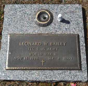 BAILEY, LEONARD W (VETERAN WWII) - Lincoln County, Louisiana | LEONARD W (VETERAN WWII) BAILEY - Louisiana Gravestone Photos