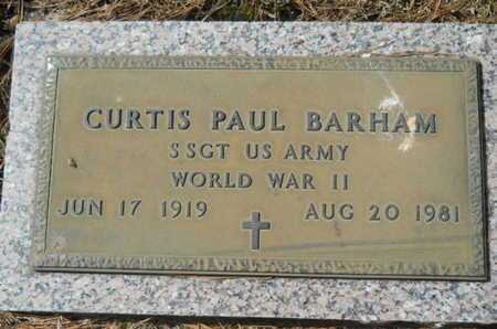 BARHAM, CURTIS PAUL (VETERAN WWII) - Lincoln County, Louisiana | CURTIS PAUL (VETERAN WWII) BARHAM - Louisiana Gravestone Photos