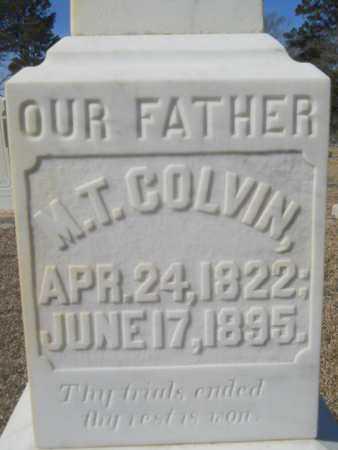 COLVIN, M T (CLOSE UP) - Lincoln County, Louisiana | M T (CLOSE UP) COLVIN - Louisiana Gravestone Photos