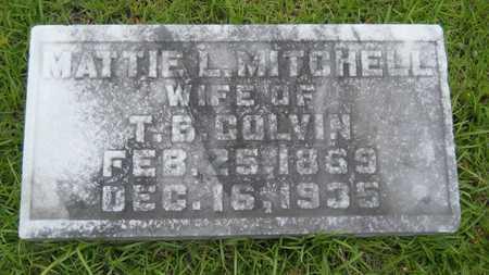 COLVIN, MATTIE L - Lincoln County, Louisiana | MATTIE L COLVIN - Louisiana Gravestone Photos