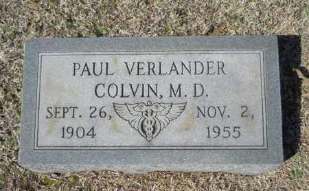COLVIN, PAUL VERLANDERM MD - Lincoln County, Louisiana | PAUL VERLANDERM MD COLVIN - Louisiana Gravestone Photos