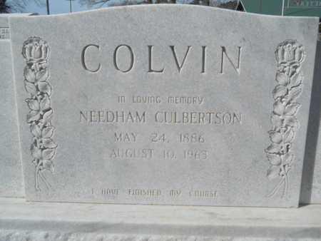 COLVIN, NEEDHAM CULBERTSON (CLOSE UP) - Lincoln County, Louisiana | NEEDHAM CULBERTSON (CLOSE UP) COLVIN - Louisiana Gravestone Photos