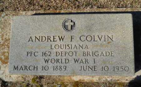 COLVIN, ANDREW F (VETERAN WWI) - Lincoln County, Louisiana | ANDREW F (VETERAN WWI) COLVIN - Louisiana Gravestone Photos