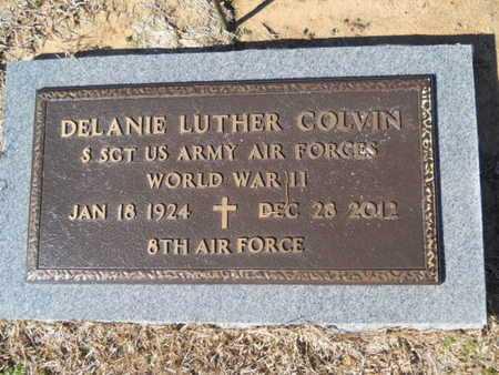 COLVIN, DELANIE LUTHER (VETERAN WWII) - Lincoln County, Louisiana | DELANIE LUTHER (VETERAN WWII) COLVIN - Louisiana Gravestone Photos