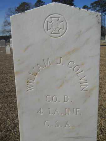 COLVIN, WILLIAM J (VETERAN CSA) - Lincoln County, Louisiana | WILLIAM J (VETERAN CSA) COLVIN - Louisiana Gravestone Photos