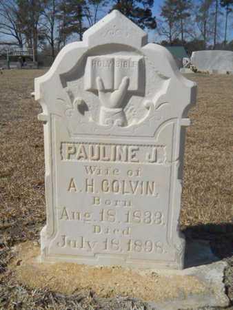 COLVIN, PAULINE JANE - Lincoln County, Louisiana | PAULINE JANE COLVIN - Louisiana Gravestone Photos