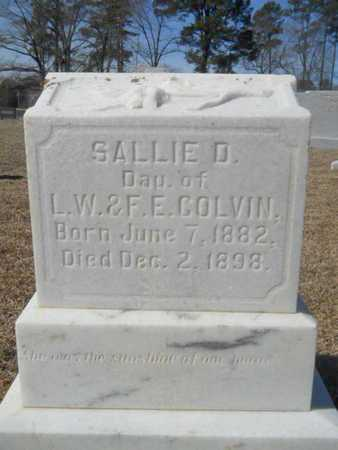 COLVIN, SALLIE D - Lincoln County, Louisiana | SALLIE D COLVIN - Louisiana Gravestone Photos