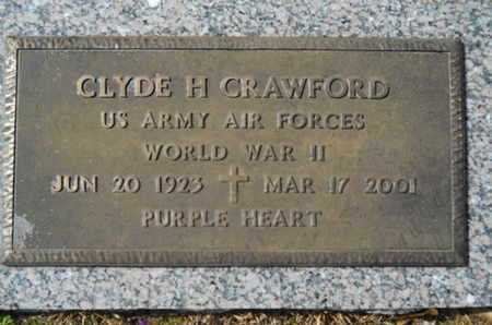 CRAWFORD, CLYDE H (VETERAN WWII) - Lincoln County, Louisiana | CLYDE H (VETERAN WWII) CRAWFORD - Louisiana Gravestone Photos
