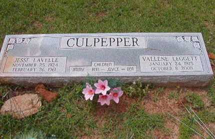 CULPEPPER, JESSE LAVELLE - Lincoln County, Louisiana   JESSE LAVELLE CULPEPPER - Louisiana Gravestone Photos