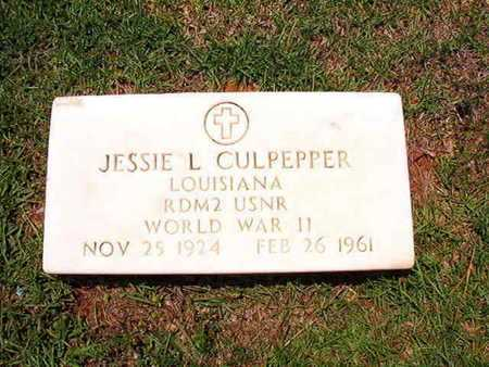 CULPEPPER, JESSIE L (VETERAN WWII) - Lincoln County, Louisiana | JESSIE L (VETERAN WWII) CULPEPPER - Louisiana Gravestone Photos