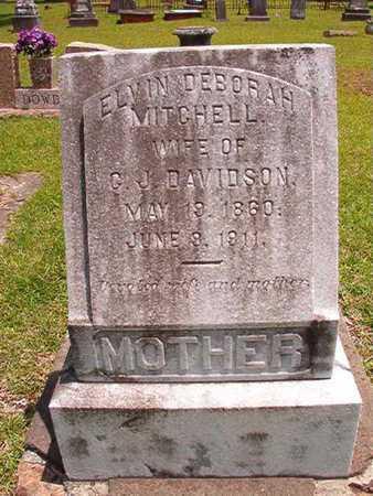 MITCHELL DAVIDSON, ELVIN DEBORAH - Lincoln County, Louisiana | ELVIN DEBORAH MITCHELL DAVIDSON - Louisiana Gravestone Photos