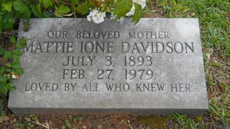 LINER DAVIDSON, MATTIE IONE - Lincoln County, Louisiana | MATTIE IONE LINER DAVIDSON - Louisiana Gravestone Photos