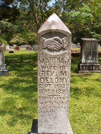 DELONY, MARTHA JANE - Lincoln County, Louisiana   MARTHA JANE DELONY - Louisiana Gravestone Photos