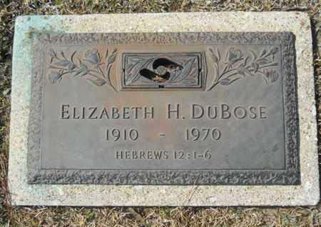 DUBOSE, ELIZABETH H - Lincoln County, Louisiana   ELIZABETH H DUBOSE - Louisiana Gravestone Photos