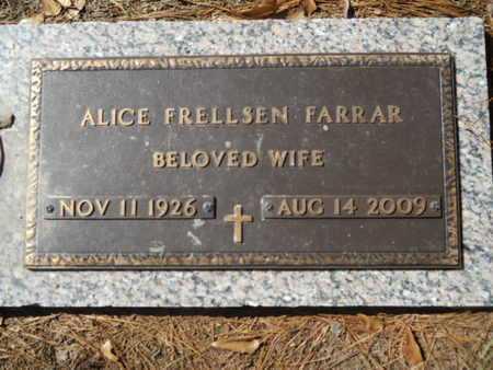FRELLSEN FARRAR, ALICE - Lincoln County, Louisiana | ALICE FRELLSEN FARRAR - Louisiana Gravestone Photos