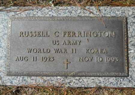 FERRINGTON, RUSSELL C (VETERAN 2 WARS) - Lincoln County, Louisiana   RUSSELL C (VETERAN 2 WARS) FERRINGTON - Louisiana Gravestone Photos