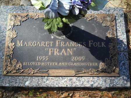 FOLK, MARGARET FRANCES - Lincoln County, Louisiana   MARGARET FRANCES FOLK - Louisiana Gravestone Photos